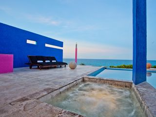 Isla Mujeres house photo - Terrace with heated jacuzzi