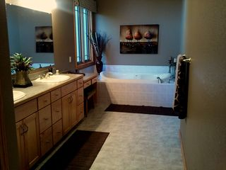 Master Bathroom / Two Person Soaking Tub / Shower (not in photo) - Pentwater house vacation rental photo