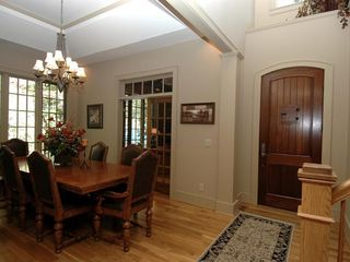 Cashiers estate photo - Interior Front Entry & Formal Dining Room
