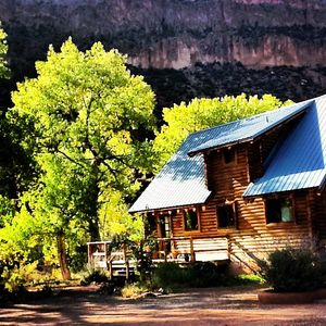 the Canyon Cabin on the river side