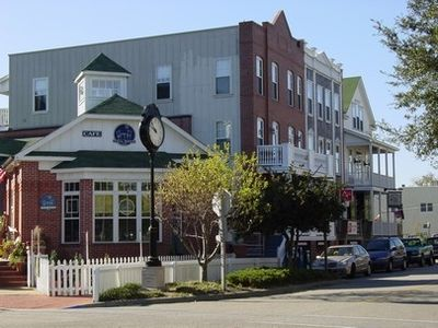 Downtown Manteo Village shops
