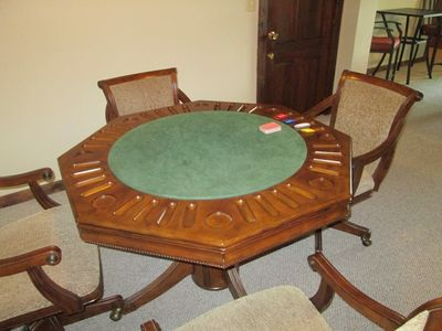 Game table in rec room
