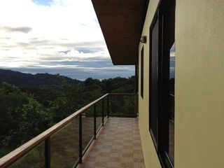 Dominical house photo - View out to ocean, but it is oftentimes a bit cloudy out there!