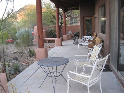 Back patio great for sunsets and morning coffee!
