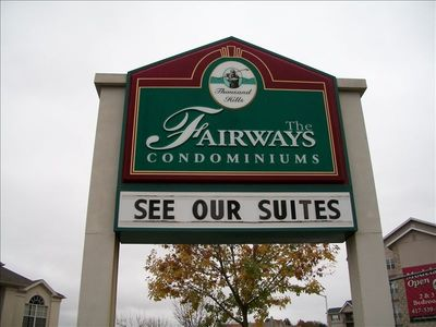 Branson condo rental - This is our sign to entrance of the condo