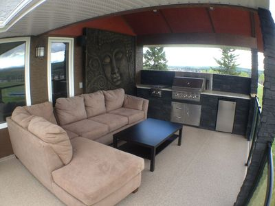 Spacious and comfortable outdoor living space