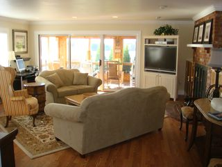 "Barnstable estate photo - The Great Room! ...... with 50"" media center !"