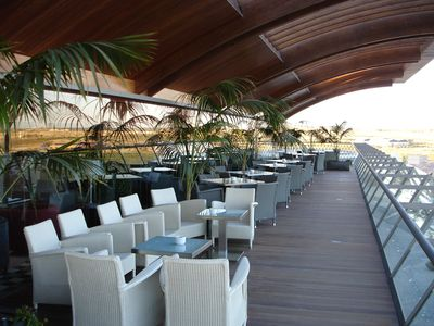 The terrace at the clubhouse