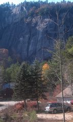 North Conway house photo - Stunning view of Cathedral Ledge from our front deck.