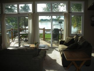 Lake Sinissippi house photo - View toward the deck.