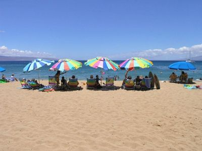 Kaanapali condo rental - We provide beach chairs/umbrellas, bodyboards & snorkel gear for your enjoyment