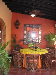 Sayulita house photo - ROMANTIC DINING SPACE LOCATED ON OUTSIDE PATIO