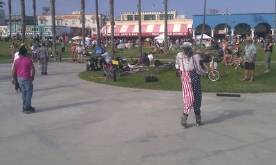 check out the Venice Characters grooving to the Music