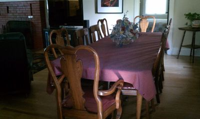 Pennsylvania House oak dining table for 10 (or 12 cozy!)