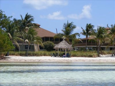 "Our ""Keys House"" from the water,  Chickee on white sandy beach!"