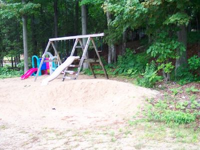 Children's Play area behind the cottage