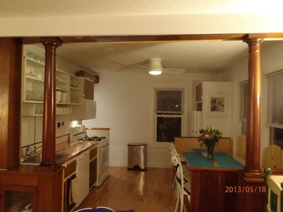 Old Orchard Beach house rental - new 1st floor kitchen, new 8 person dinning copper dinning table