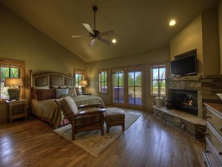 Big Sky house photo - Master with fireplace and views