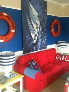 .Nautical inspired living room