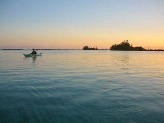 Andros house boat photo - Sunset kayaking