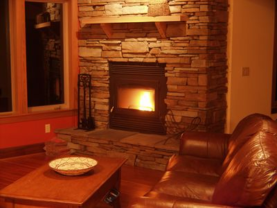 The warmth of a real wood burning fireplace