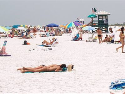 soak up the sun while digging your toes into the soft, white sands of Siesta Key