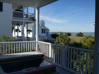 Relax in the built-in hot tub and let Tybee chase your cares away.