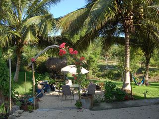 Bacalar house photo - Patio and vegetable garden off the studio. For your use too.