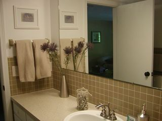Grand Haven house photo - Lower level bathroom with shower and large washer/dryer