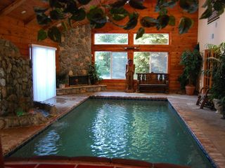 Pioneer Trail house photo - Your Own Private Heated Pool, Waterfall, Fireplace....Heaven!