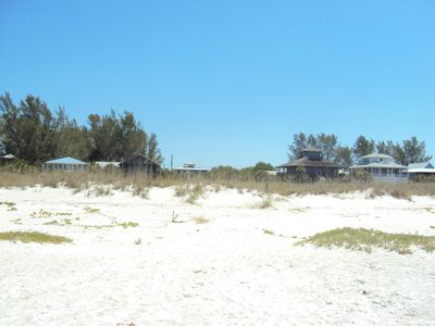 Little Gasparilla Island house rental - View from the beach to the pathway to our house