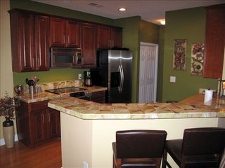 Murrells Inlet townhome photo - Kitchen w/Snack Bar