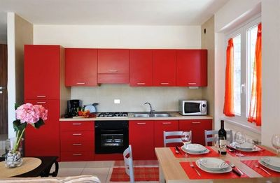 Modern dining area & newly fitted kitchen has everything needed for your holiday