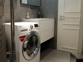 7th Arrondissement Eiffel Tower apartment photo - Washing machine and dryer