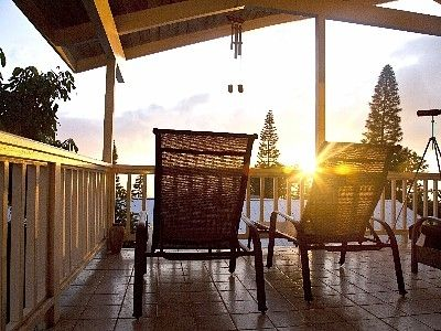 Relax and watch the sunset from the upstairs lanais. Gorgeous ocean views!