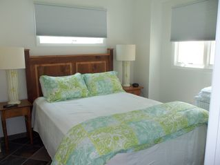 High Bar Harbor house photo - First floor queen bedroom---All bedrooms (except bunk room) come with a TV!