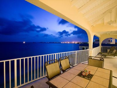 Relax on the patio in the evening and take in the night views.