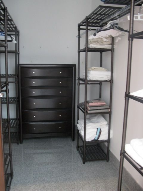 walk in closet and drawers