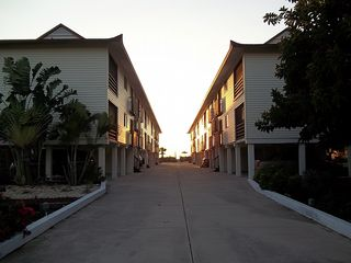 Manasota Key condo photo - West End of North and South Buildings - Private Drive to Unit on End