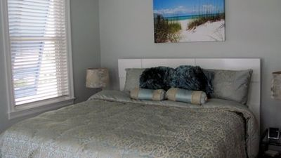 Master Bedroom #1 with New King Sized Bed, Full Bath, Flat Screen TV