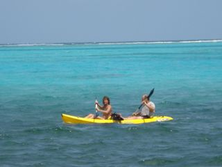Ambergris Caye house photo - kayaking in Front of House With Reef in Bach Round