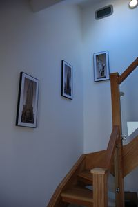 Vale of White Horse apartment rental - solid wooden staircase