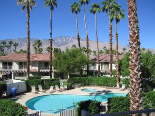 Palm Springs condo photo - Spectacular western mountain view from balcony