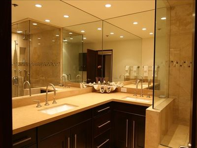 Master Bath - dual vanities -3 shower heads -  steam shower