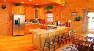 Blue Ridge cabin photo - Large, well equipped Kitchen with everything you need!
