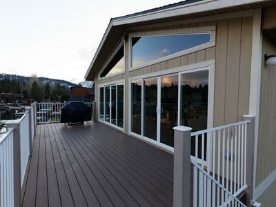 Huge upper deck to enjoy the beauty of Tahoe Keys