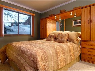 The Canyons condo photo - The Master Bedroom has a Soft Queen Bed and Modern Furnishings