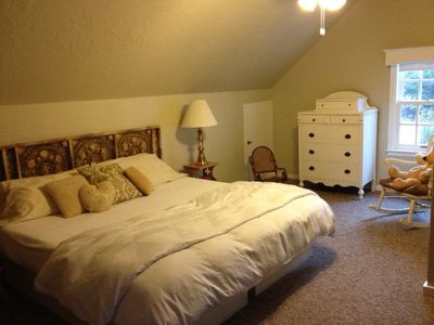 South Haven cottage rental - upper level master bedroom