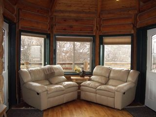 Heber City cabin photo - Relax, recline, and read in the windowed alcove.