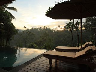 Sunrise from the jungle valley - Ubud villa vacation rental photo